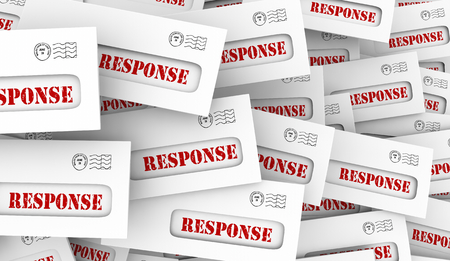 Response Answers Survey Results Envelopes 3d Illustration Stock Photo