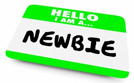 Newbie New Employee Member Introduzione Hello Nametag 3d Illustration