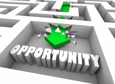 Opportunity Special Chance Success Maze 3d Illustration 版權商用圖片