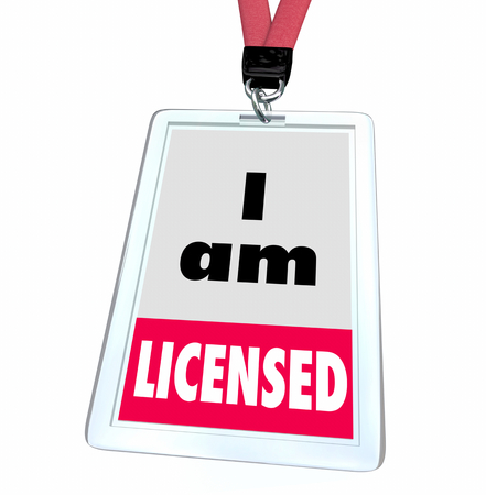 I Am Licensed Officially Approved Certified Badge 3d Illustration