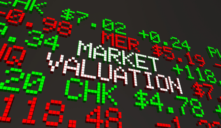 Market Valuation Company Worth Capitalization Ticker Prices 3d Animation