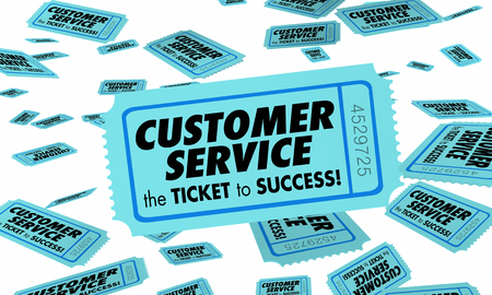Customer Service Ticket Success Good Attention Clients 3d Illustration