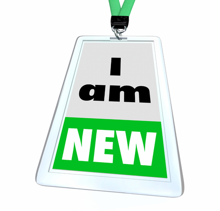I Am New Rookie Latest Member Employee Joined Now Badge 3d Illustration