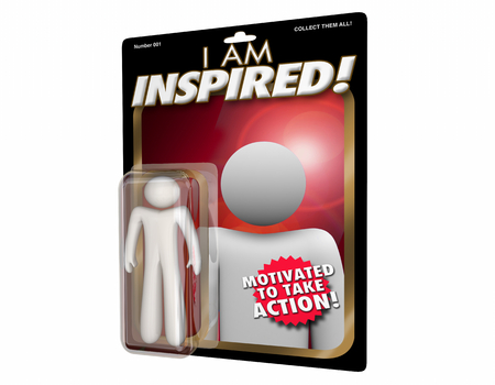 Inspired Person Motivated Inspiration Action Figure 3d Illustration