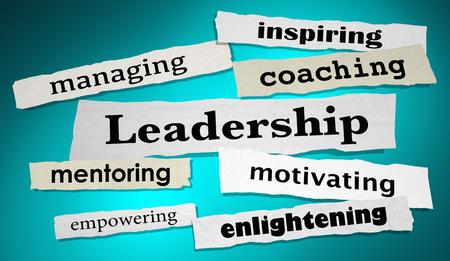 Leadership Management Motivation Headlines 3d Illustration Stock Photo