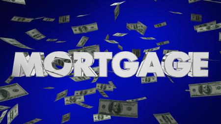 Mortgage Home Loan Financing Money 3d Illustration Imagens - 107348092