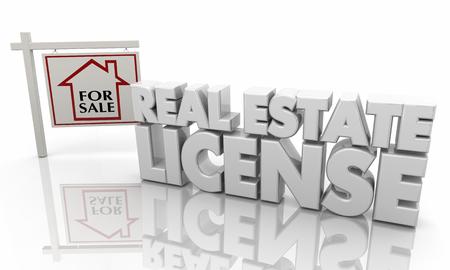 Real Estate License Agent Sell Homes 3d Illustration