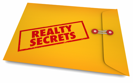 Realty Secrets Realtor Selling Home House Envelope 3d Illustration