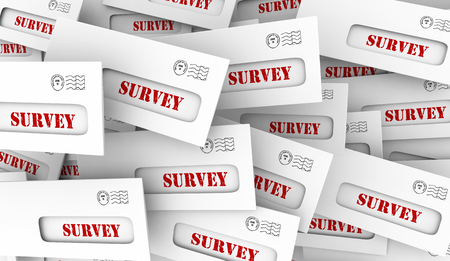 Survey Market Customer Research Study Envelopes Reponses 3d Illustration