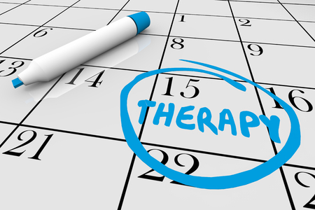 Therapy Physical Medical Treatment Session Calendar Date 3d Illustration