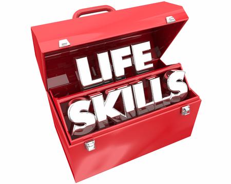 Life Skills Experience Knowledge Learning Toolbox 3d Illustration