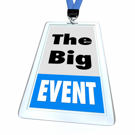 The Big Event Special Conference Attendee Badge 3d Illustration