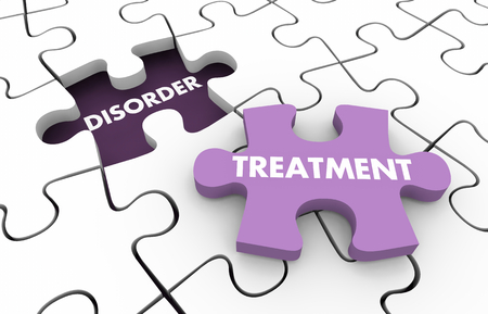 Treatment Disorder Health Care Therapy Cure Puzzle 3d Illustration