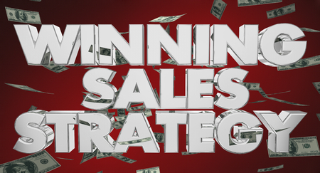 Winning Sales Strategy Selling Plan Money 3d Illustration Stock fotó