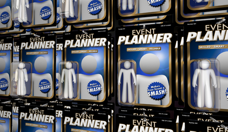 Event Planner Organizer Planning Professional Action Figure 3d Illustration Фото со стока