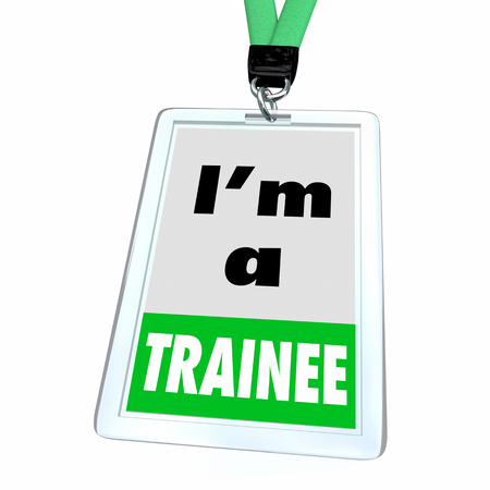 Trainee New Employee Student Learning Skills Badge 3d Illustration