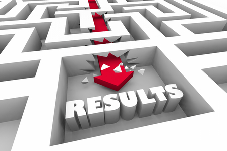 Results Outcome Goal Success Maze 3d Illustration