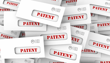 Patent Applicaiton Approved New Invention Copyright Envelopes 3d Illustration