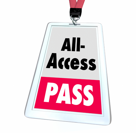 All Access Pass Ticket Full Exclusive Admittance Badge 3d Illustration Stock Photo