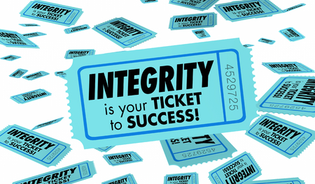 Integrity Honesty Trust Reputation Ticket 3d Illustration Banque d'images