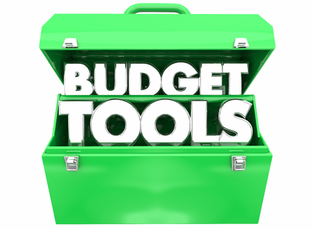 Budget Money Financial Planning Toolbox 3d Illustration