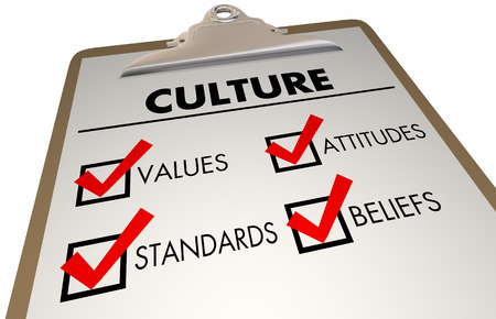 Culture Beliefs Values Languages Checklist Clipboard 3d Illustration