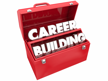 Career Building New Job Working Path Plan Toolbox 3d Illustration 版權商用圖片