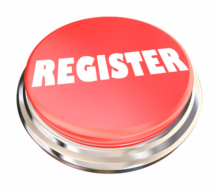 Register Sign Up Join Membership Attend Event Button 3d Illustration Imagens