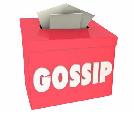 Gossip Rumors Innuendo Lies False Stories Box 3d Illustration