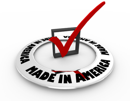 Made in America USA Product Pride Quality Check Mark Box Word 3d Illustration