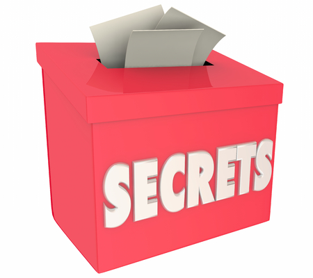 Secrets Classified Confidential Information Box 3d Illustration