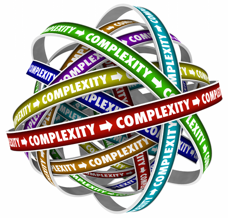 Complexity Detail Involved Elaborate Word 3d Illustration Stock Photo