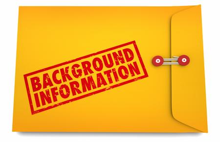 Background Information Details History Envelope 3d Illustration