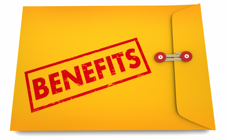 Benefits Perks Sign Up Registration Information Envelope 3d Illustration Фото со стока