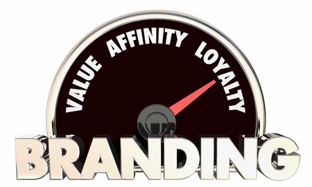Branding Value Affinity Loyalty Metrics Speedometer 3d Illustration Stok Fotoğraf - 109650746