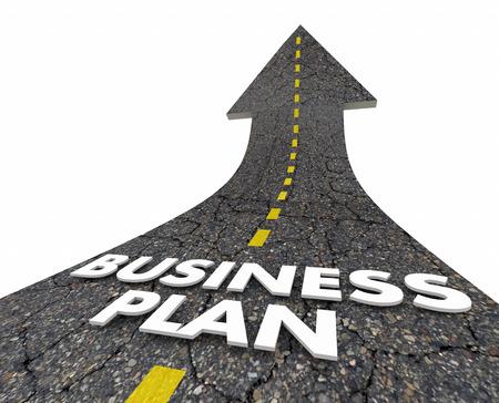 Business Plan Strategy Road Arrow 3d Illustration Stock Photo