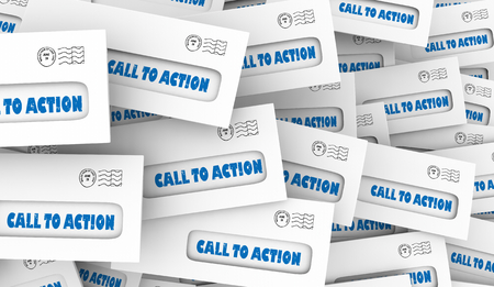 Call to Action Response Act Now Marketing Customers Envelopes 3d Illustration