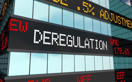 Deregulation Stock Market Rules Laws Trading Ticker 3d Illustration