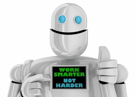 Work Smarter Not Harder Process Efficiency Hacks Robot 3d Illustration