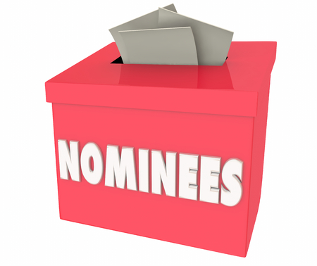 Nominees Nominate People Nominations Box 3d Illustration