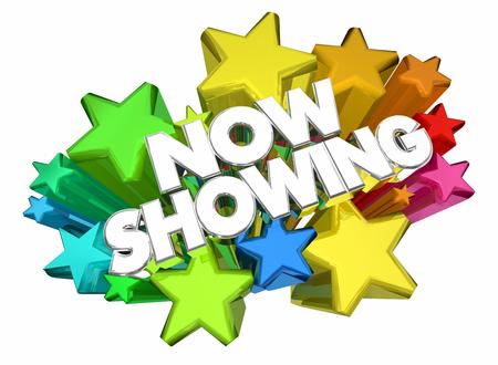 Now Showing Feature Presentation Movie 3d Animation Reklamní fotografie - 109652067