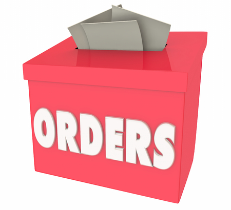 Orders Sales Closed Deals New Business Box 3d Illustration