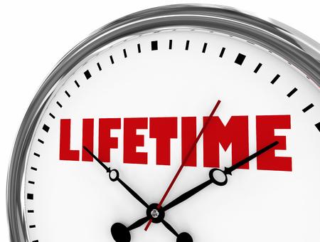 Lifetime Entire Run Long Term Clock Time 3d Illustration
