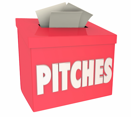 Pitches Sales Proposals Collection Suggestion Box 3d Illustration