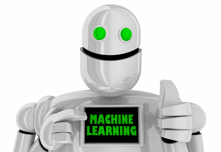 Machine Learning Deep Process AI Artificial Intelligence Robot 3d Illustration Stock Photo