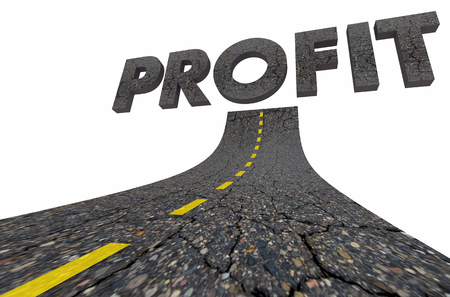 Profit Make Money Earnings Income Road Word 3d Illustration