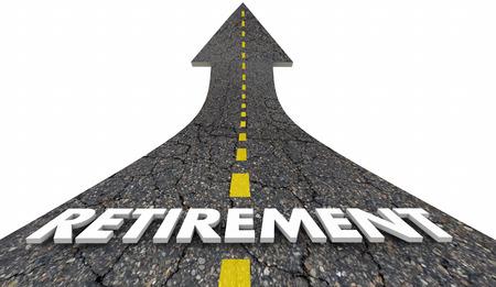 Retirement Stop Working End Career Road Arrow 3d Illustration
