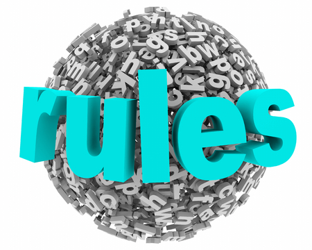 Rules Laws Regulations Instructions Directions Letter Sphere 3d Illustration