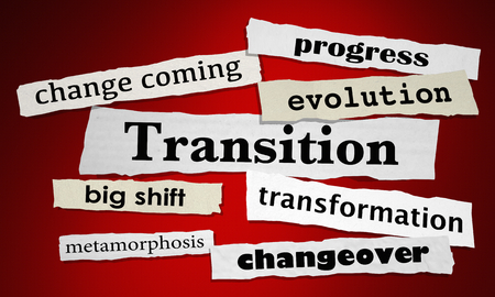 Transition Change Evolution Newspaper Headlines 3d Illustration