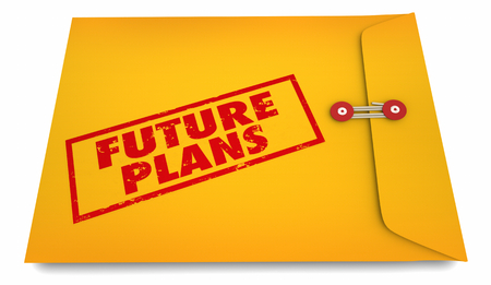 Future Plans Forward Looking Proactive Strategy Envelope 3d Illustration